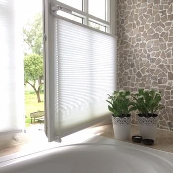 Plissegordijn badkamer