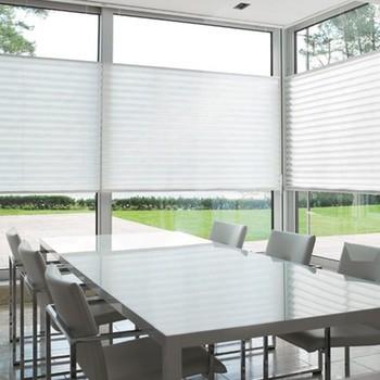 plissegordijnen raambekleding voor grote ramen
